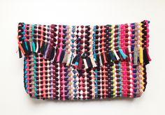 DIY Woven Rug Clutch Bag by PlanB