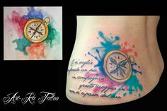 #bussola #watertattoo #colortattoo #tattoo #artka #artkatattoo #pinerolo #pinerolotattoo #italy #ink #inked