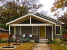 Example of home in Crestview. According to Zillow, the median cost of a home in this neighborhood is Brewery, Front Porch, The Neighbourhood, Shed, Texas, Houses, Outdoor Structures, Design, Homes
