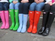 Hunter rainboots. I want the green ones!