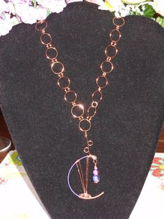 Copper Wire Jumpring Necklace by OurBeadedCharms on Etsy, $24.99