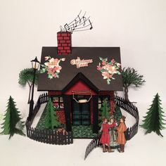 annes papercreations: Templates and Tutorial for the G 45 A Christmas Carol Christmas house and Mini Album By Anne Rostad