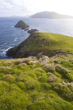 Dingle Peninsula, Ireland      This view reminds me a bit of the Mariana Islands -- Pagan I'm thinking of.