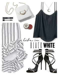 """Life in Black and White"" by juliehooper ❤ liked on Polyvore featuring Caroline Constas, Giuseppe Zanotti, Christian Dior, blackandwhite, polyvoreeditorial, asymmetricskirts and ruffledskirt"