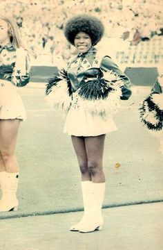 Mary Smith, first African-American cheer leader for the Dallas Cowboys...circa 1970
