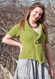 Free Knitting Pattern - Women's Cardigans: Wrentham Half Sleeve Cardigan