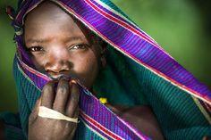 スリ族の少女(エチオピア)