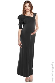 Maternal America Maternity Black Gown - Final Sale