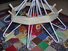 Cool idea from: sewnsews: My diy yarn swift