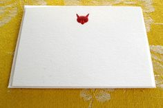 // Bell'occhio | Papeterie | Little Engraved Fox Cards