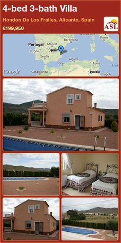 4-bed 3-bath Villa in Hondon De Los Frailes, Alicante, Spain ►€199,950 #PropertyForSaleInSpain