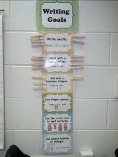 Writing goals: 1st grade