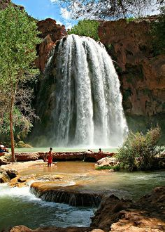 Havasu Falls - Grand Canyon National Park - Arizona - photo by Stephen Stookey Oh The Places You'll Go, Places To Travel, Great Places, Places To Visit, Grand Canyon National Park, National Parks, Beautiful World, Beautiful Places, Les Cascades