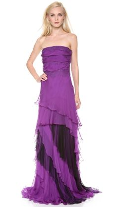 Love the Alberta Ferretti Collection Strapless Chiffon Gown on Wantering | Radiant Orchid | womens chiffon orchid gown | womens style | womens fashion | wantering http://www.wantering.com/womens-clothing-item/strapless-chiffon-gown/afzJ7/