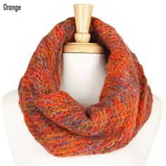 YC011 TWISTED WARMER MARBLED - ORANGE