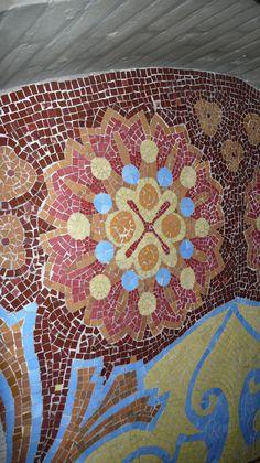 Hospital de Sant Pau - wall mosaic - Barcelona