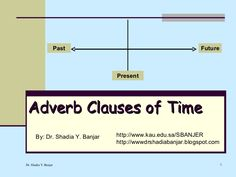 Adverb Clauses Of Time, By Dr. Shadia by Dr. Shadia Banjar via slideshare