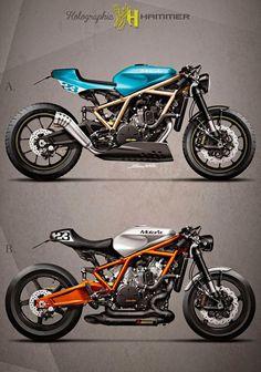KTM 1190 RC8 naked cafe concepts
