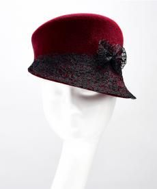Autumn/Winter 2013 | Rosie Olivia Millinery I like the asymmetrical shape but also the trim. #millinery #judithm #hats