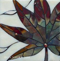 """ORGANICS 15 4.25""""x4.25"""" framed glass mosaic LinSchorr.com"""