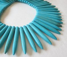 Turquoise Spikes Beads Daggers Blue Needles by BijiBijoux on Etsy