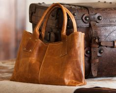 Burnished Leather Satchel