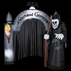 We need this April,  HALLOWEEN DECORATION LAWN YARD INFLATABLE AIRBLOWN REAPER CEMETERY ARCHWAY 8' TALL HALLOWEEN INFLATABLE At The Neighborhood Corner Store http://www.amazon.com/dp/B00EYMBP2W/ref=cm_sw_r_pi_dp_uM8aub1X3ZVGS