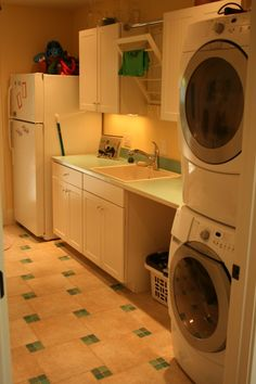 drying racks over the sink - genius move. This would be nice maybe if we have a large garage or dedicated laundry room