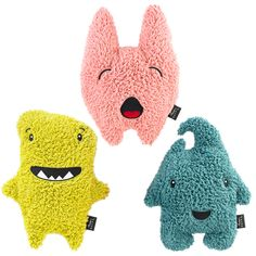 Love the soft and cuddly monster softies Cute Monsters, Little Monsters, Giant Stuffed Animals, Dinosaur Stuffed Animal, Monster Inc Party, Monster Mash, Eco Kids, Comfortable Pillows, Creature Comforts