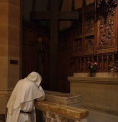 Dominican friar in prayer