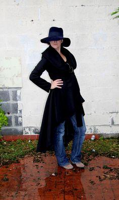 Manteau long queue de pie femme : Manteau, Blouson, veste par dagmara-joly