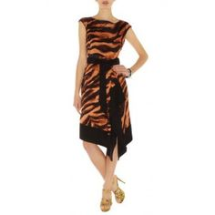 Karen Millen Zebra Tie Dye Print Dress Orange Multi Dn252 Online Floral Dress cute #womenfashion #ramirez701 #FloralDress #Floral #Dress #topdress www.2dayslook.com