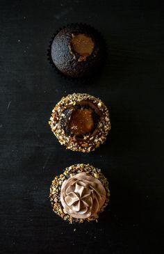 hazelnut praline ganache cupcakes