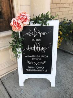 Welcome To Our Wedding Sign - Wedding Chalkboard - Welcome Wedding Decor - Aisle Decor - Wedding Sign - Party Decor - Entrance - Ceremony by TIMBERANDLACECO on Etsy #weddingdecoration