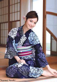 Japanese actress and model Nozomi Sasaki in kimono.