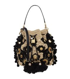 Dolce & Gabbana Printed Claudia Bucket Bag   Harrods