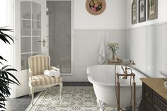 Beautiful Country Gris Claro 2 1/2x16 wall tiles and London Ogee