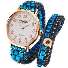 Navy - Double Wrap - Women´s Watch