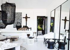 Les Interieurs - black, white, wood, silver, texture texture texture!