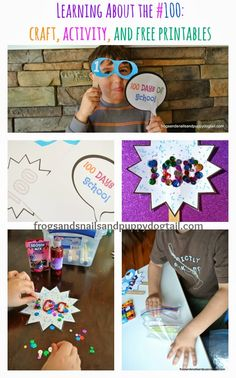 Learning About the #100: craft, activity, and free printables on FSPDT