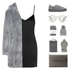 """""""Faux Fur"""" by ashola18 ❤ liked on Polyvore featuring La Perla, Puma, Ray-Ban, Falke, Eugenia Kim, Garden Trading, Universal Lighting and Decor and Lancaster"""