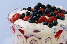 Great Summer berry trifle recipe photo #Trifle #Recipes