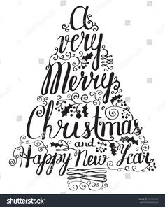 stock-vector-calligraphy-lettering-christmas-tree-161950403.jpg (1275×1600)