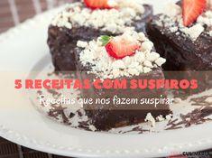 5 receitas com suspiros Desserts, Yummy Recipes, Sweets, Cake, Ideas, Vape Tricks, Tarts, Tailgate Desserts, Deserts