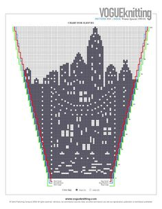 City scape intarsia sweater pattern Marc Jacobs