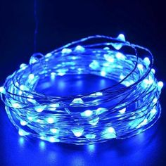 CrazyFire Christmas LED String LEDs Blue Light Christmas Copper Lights String for Christmas Wedding Halloween Patio Party Decorations Fairy String Lights with USB Interface Starry String Lights, String Lights Outdoor, Blue Fairy Lights, Blue Led Lights, Blue Christmas Lights, Holiday Lights, Christmas Tree, Party, Lights