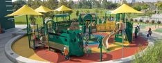 West Wilshire Park -Inclusive Playground - Train-Themed Playground