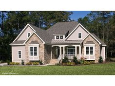 Home Plan HOMEPW76091 - 2046 Square Foot, 3 Bedroom 2 Bathroom  Craftsman  Home with 2 Garage Bays | Homeplans.com