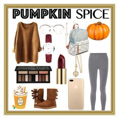 """Pumpkin Spice Latte!"" by absolutely-mia on Polyvore featuring Improvements, T By Alexander Wang, UGG Australia, Red Camel, Linda Farrow, Burberry, Kat Von D and Urban Decay"