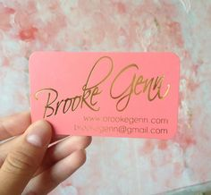 Gold Foil Square Business Cards with Silk Laminate by ShaynaMade